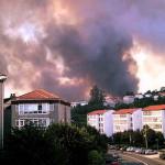 Arde Santiago de Compostela