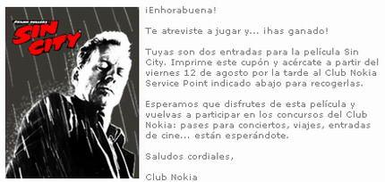 Sin City Entradas